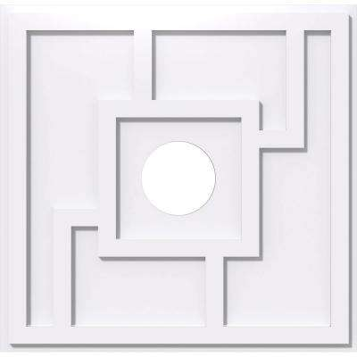 14 in. OD x 3 in. ID x 1 in. P Knox Architectural Grade PVC Contemporary Ceiling Medallion