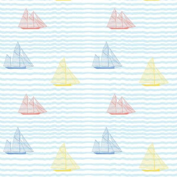 Mitchell Black Baby Collection Sailboats in Popsicle Removable and