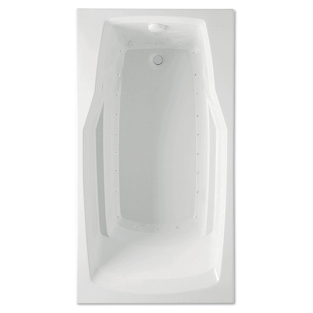Derby 60 in. Acrylic Reversible Drain Rectangle Drop-In Air Bath Tub in