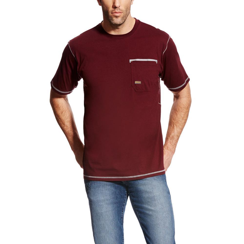 Men's Size Small Malbec Rebar Short Sleeve Work Shirt
