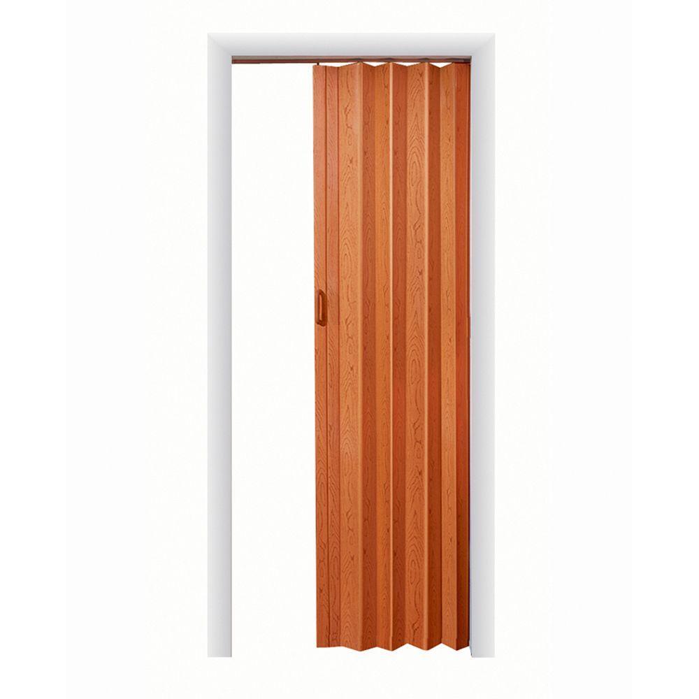 Oakmont Vinyl Pecan Accordion Door