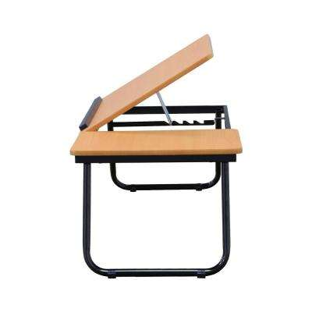 24 in. Dark Walnut Wood Portable Folding Utility Table