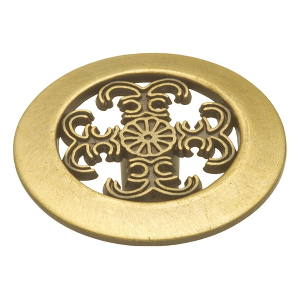 Hickory Hardware Cavalier 1-1/2 in. Antique Brass Cabinet Knob