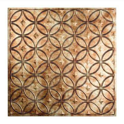 Rings - 2 ft. x 2 ft. Lay-in Ceiling Tile in Bermuda Bronze