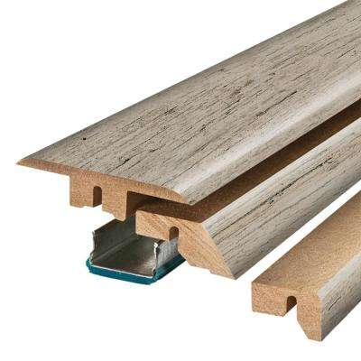 Dockside Grey Oak 3/4 in. Thick x 2-1/8 in. Wide x 78-3/4 in. Length Laminate 4-in-1 Molding