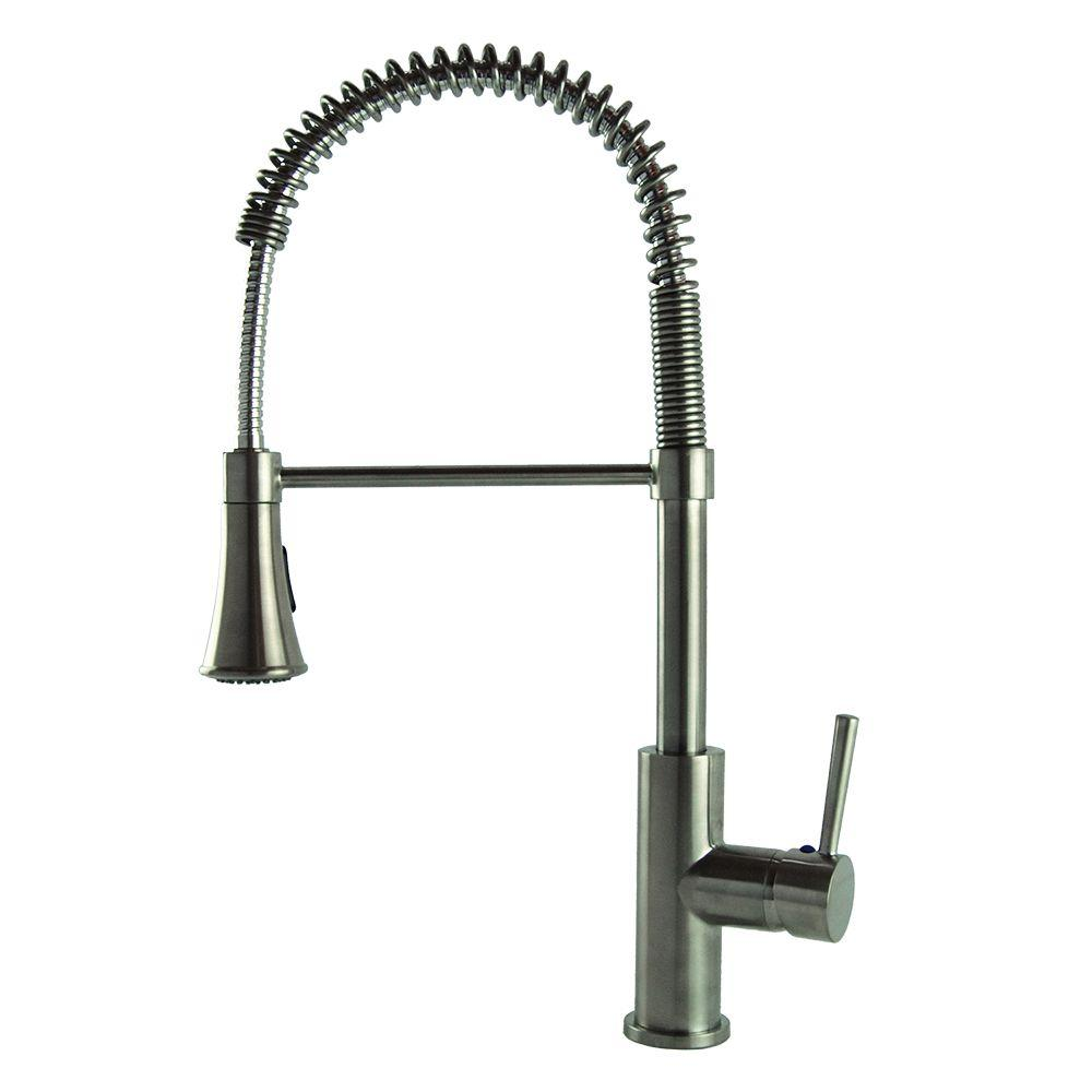 Modern European Residential Single-Handle Pull-Down Sprayer Kitchen Faucet in
