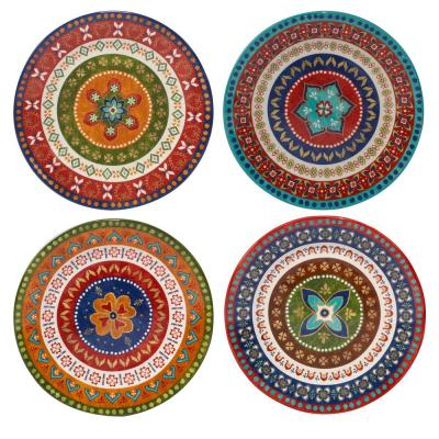 Monterrey 11.25 in. Multi-Colored Dinner Plate (Set of 4)