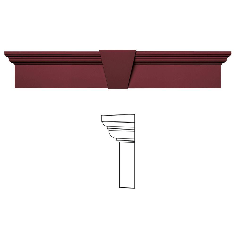 Builders Edge 6 in. x 33-5/8 in. Flat Panel Window Header with Keystone in 078 Wineberry