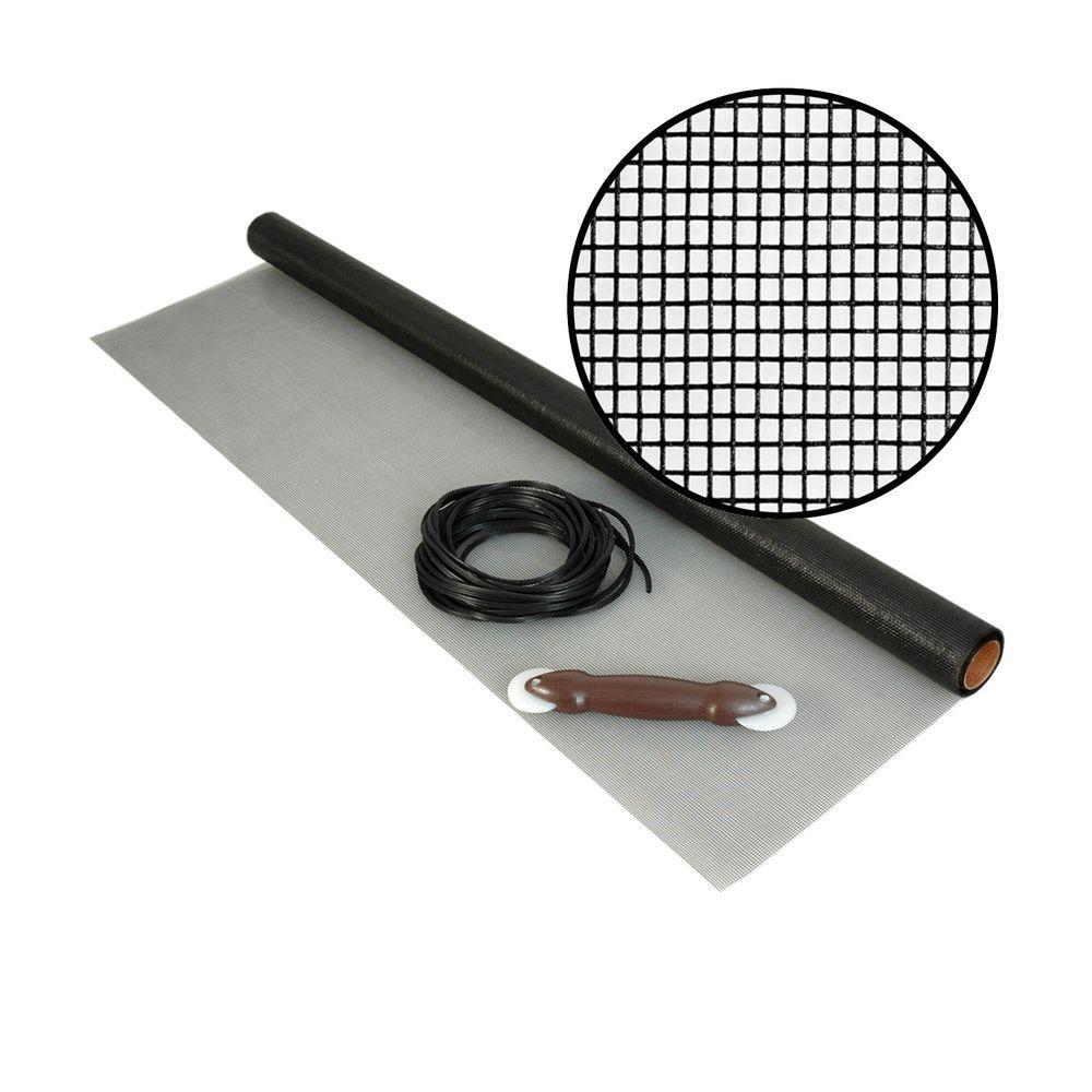 Phifer 48 in. x 25 ft. Fiberglass Screen Kit with Spline and Roller