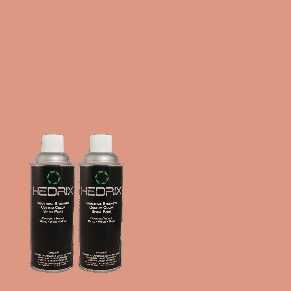 Hedrix 11 oz. Match of 2A25-4 Copperberry Semi-Gloss Custom Spray Paint (2-Pack)