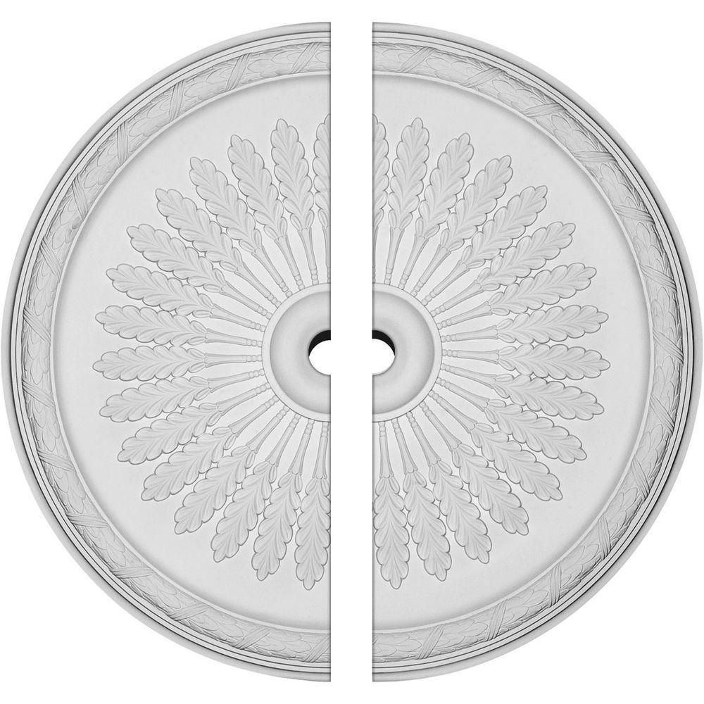 36 in. O.D. x 3 in. I.D. x 1-1/2 in. P Juniper Ceiling Medallion (2-Piece)