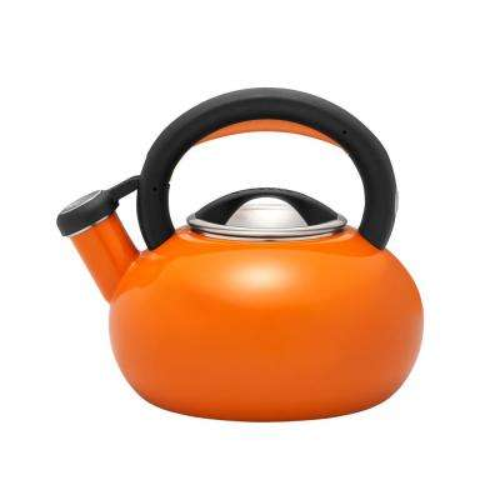 1.5 Qt. 6-Cups Orange Sunrise Teakettle