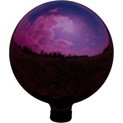 10 in. Merlot Mirrored Surface Outdoor Garden Gazing Ball Globe