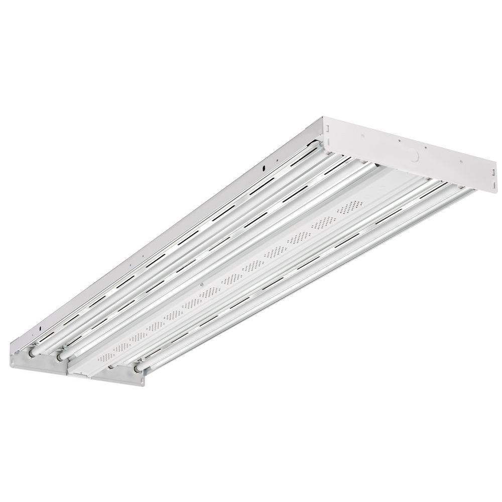 Lithonia Lighting 4 Ft 4 Light T5 High Output White Fluorescent High Bay With Lamps Included Ibzt5 4 The Home Depot