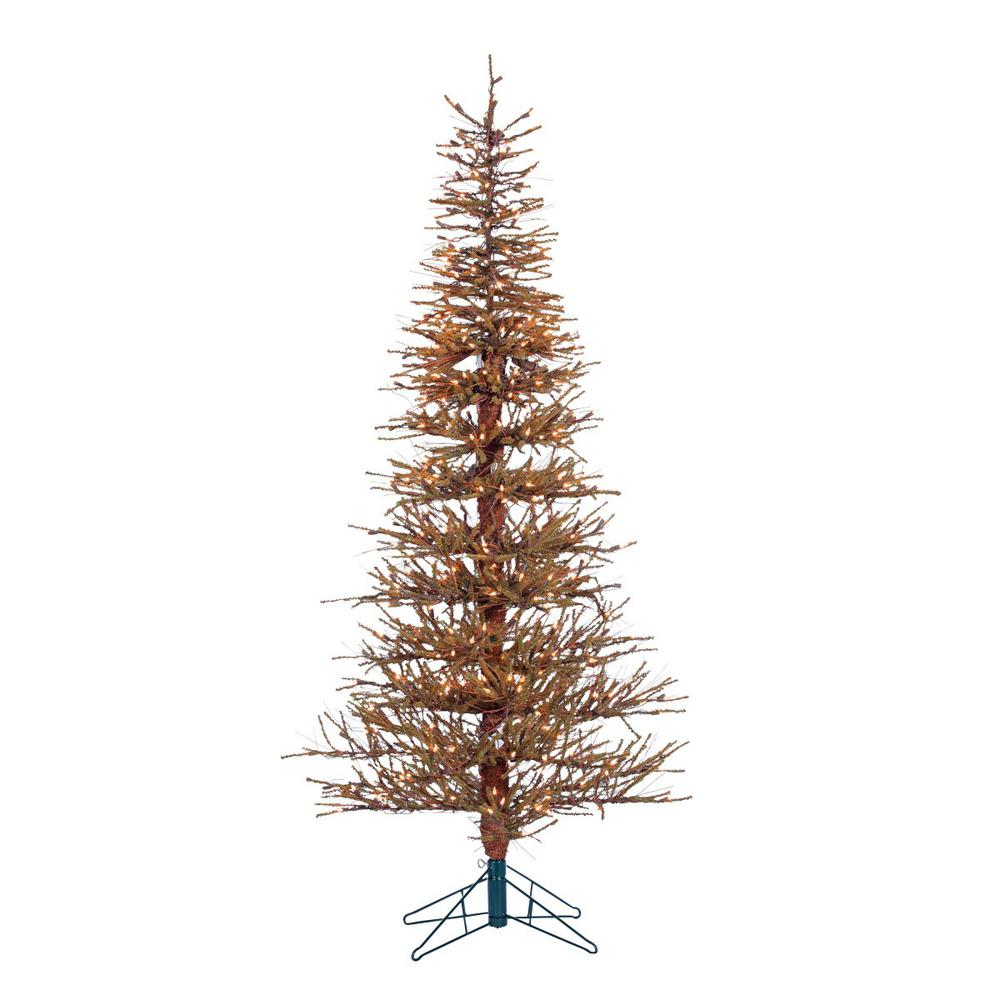 pre lit hard needle brown twig artificial christmas tree with 400