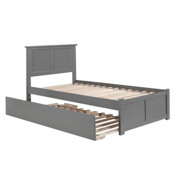 Atlantic Furniture Madison Twin Platform Bed with Matching Foot Board with