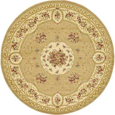 Versailles Phillipe Tan 8' 0 x 8' 0 Round Rug