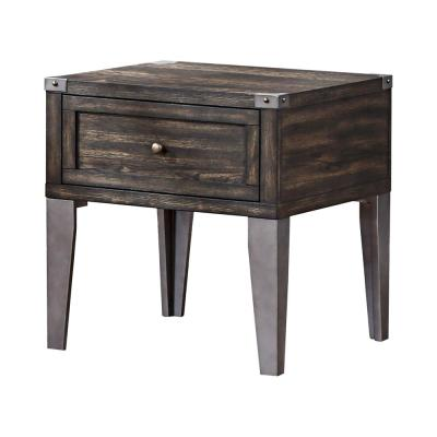 Luca Gray and Dark Oak End Table