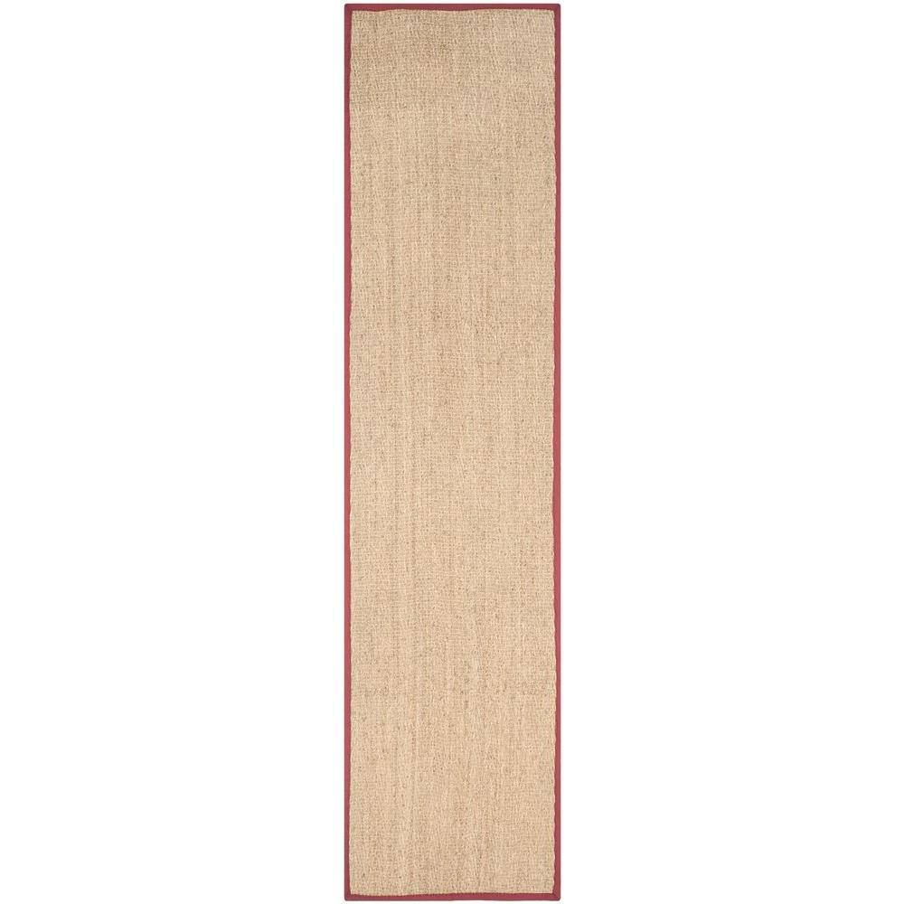 Safavieh Natural Fiber Beige/Red 3 ft. x 10 ft. Indoor Runner Rug