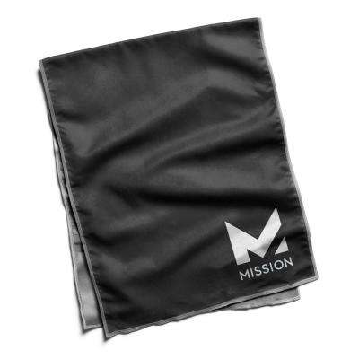 12.25 in. W x 33 in. L Hydro Active Microfiber Towel Black