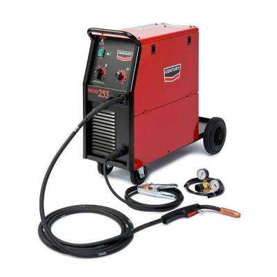 255 Amp Wire Feed 255 MIG Wire Feed Welder with 250L Magnum Gun and Gas Regulator, Single Phase, 230V