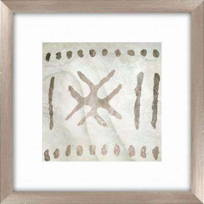 "20-1/2 in. x 20-1/2 in. ""Tribal Etched Lines D"" Framed Wall Art"