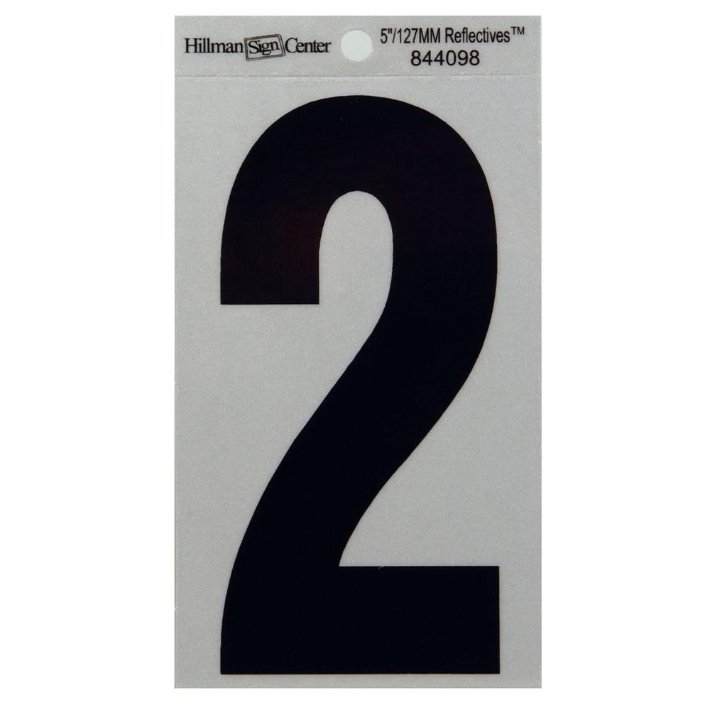 5 in. Mylar Reflective Number 2