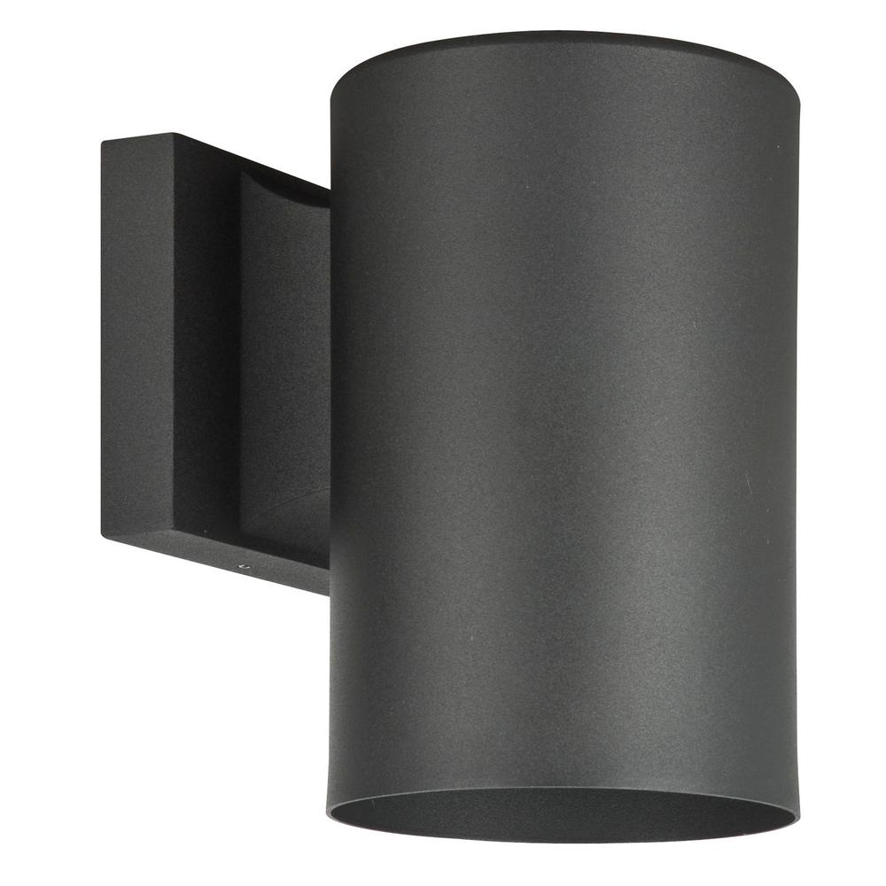 Sunset Lighting Architectural Outdoor 1 Light Black Outdoor Wall
