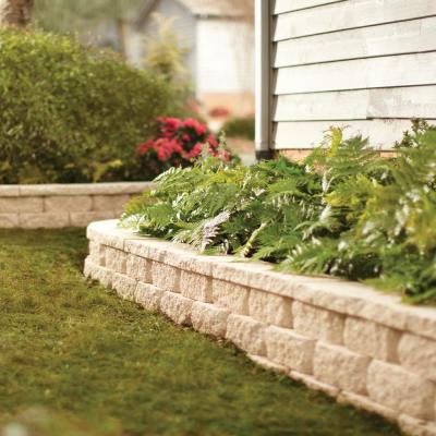 6.75 in. L x 11.63 in. W x 4 in. H Antique Buff Concrete Retaining Wall Block (144-Piece/46.6 sq. ft./Pallet)