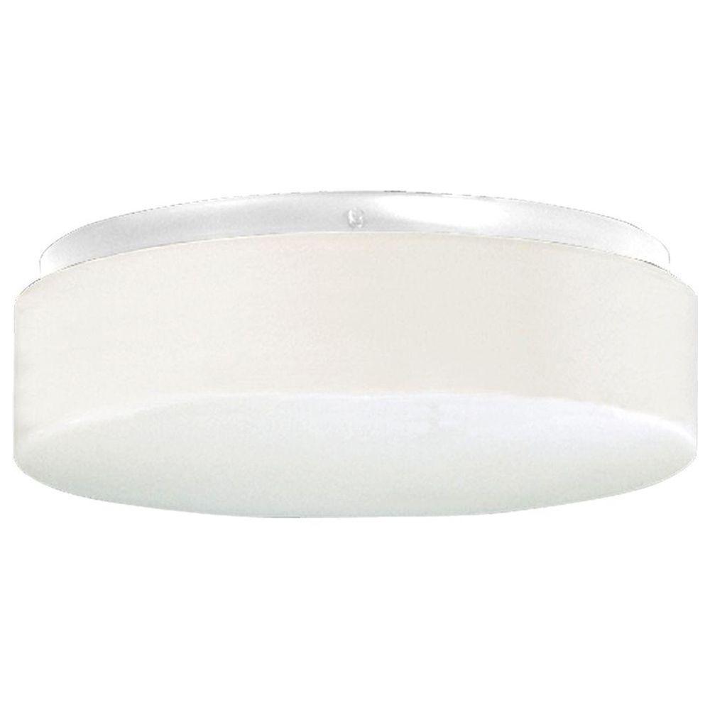Hard-Nox Collection 2-Light White Outdoor Flushmount