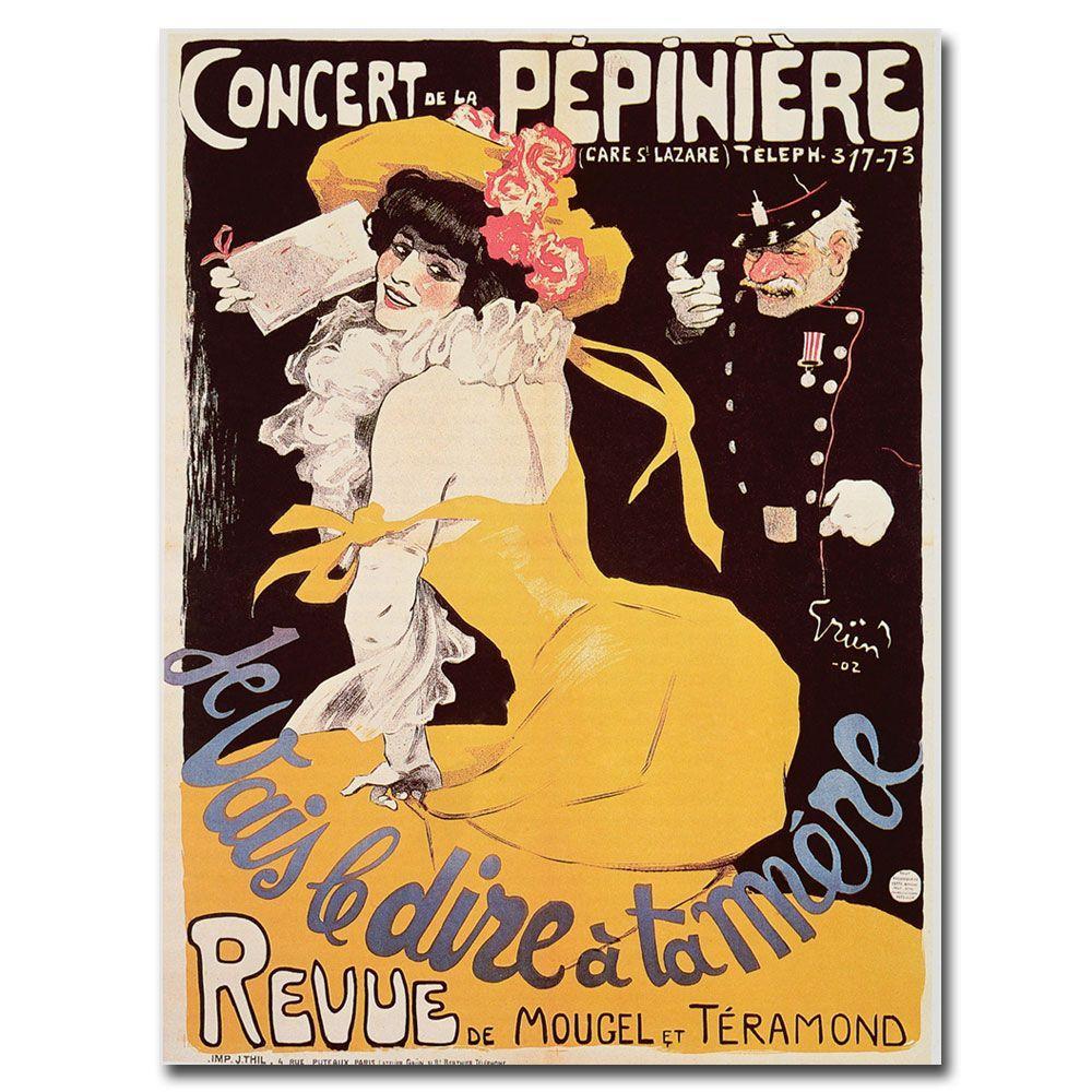 24 in. x 32 in. Concert de la Pepiniere 1902 Canvas