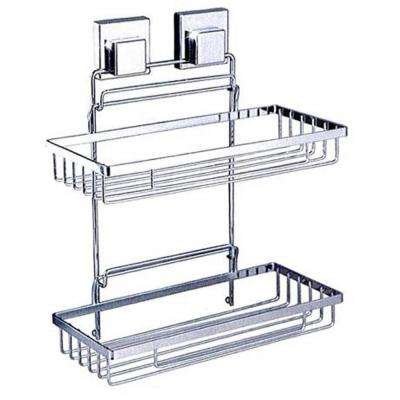11 in. Double Rectangular Caddy in Chrome