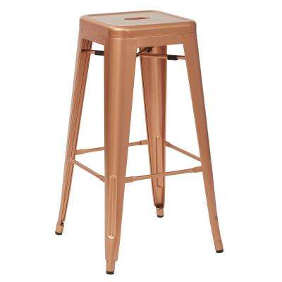 Bristow 30 in. Copper Metal Barstool (4-Pack)