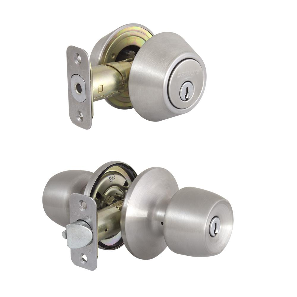 Single Cylinder Deadbolt Door Entry Knob Stainless Steel