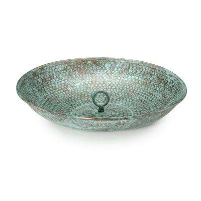 Rain Chain Basin - Blue Verde Copper