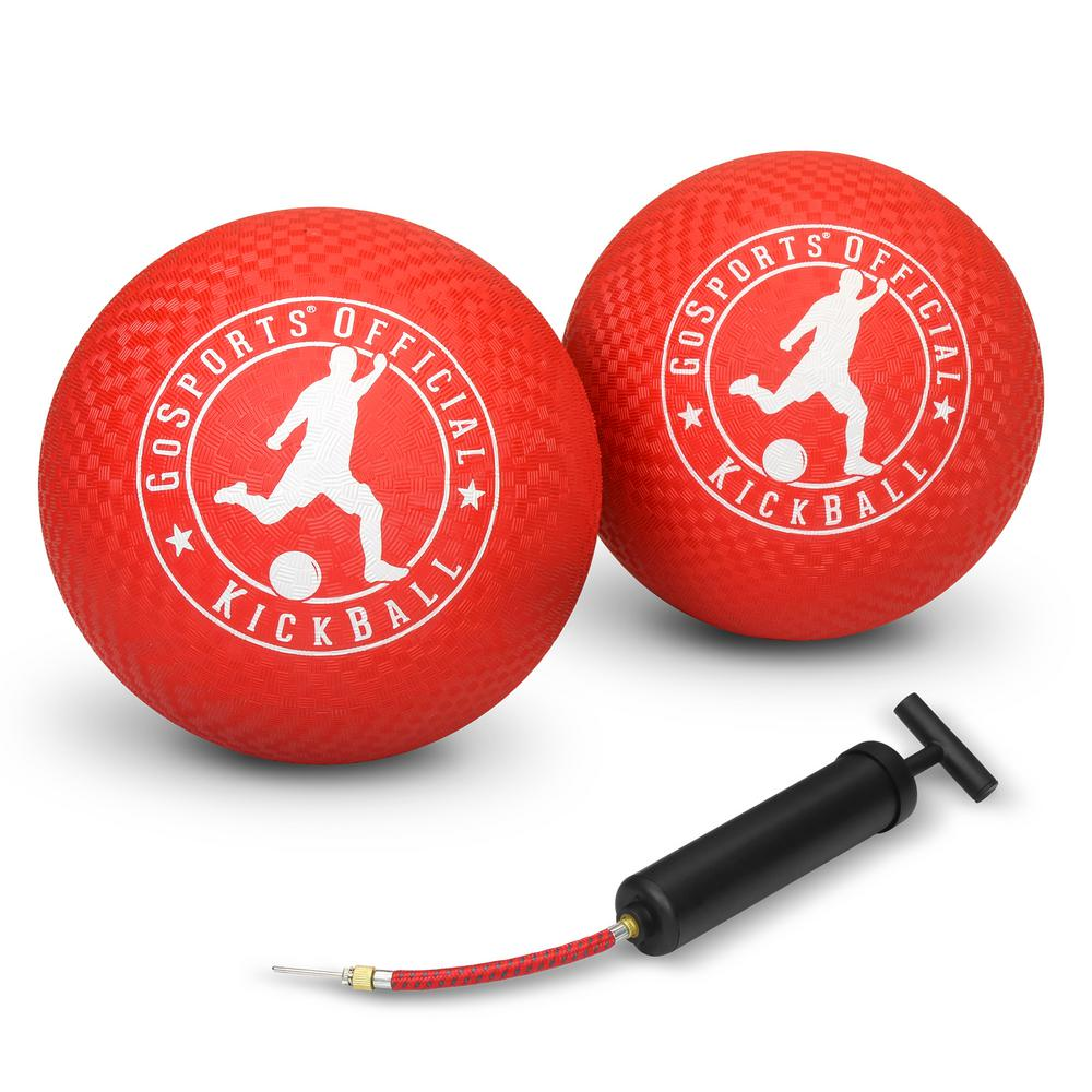 1cd52939c GoFloats Official 10 in. Kickball with Pump (2-Pack)-BALLS-PB-10-2 ...