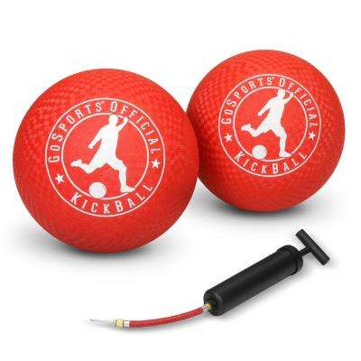 Official 10 in. Kickball with Pump (2-Pack)