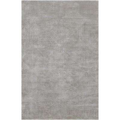 Edmonda Blue Gray 9 ft. x 13 ft. Area Rug