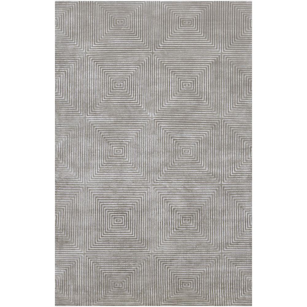 Candice Olson Blue Gray 5 ft. x 8 ft. Area Rug