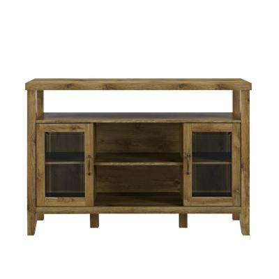 52 in. Barnwood Wood Console High Boy Buffet