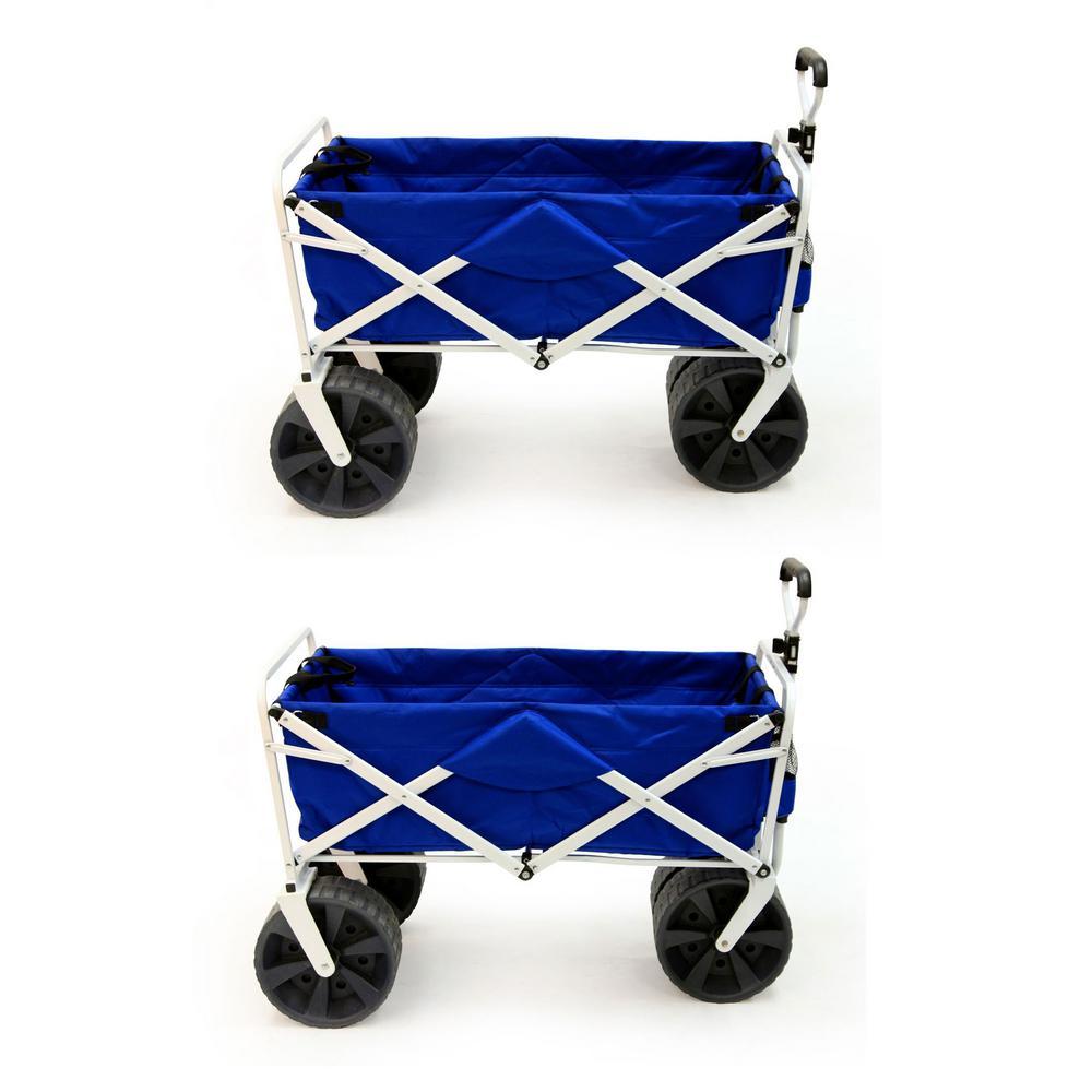 Collapsible Folding All Terrain Beach Utility Wagon Cart (2-Pack)