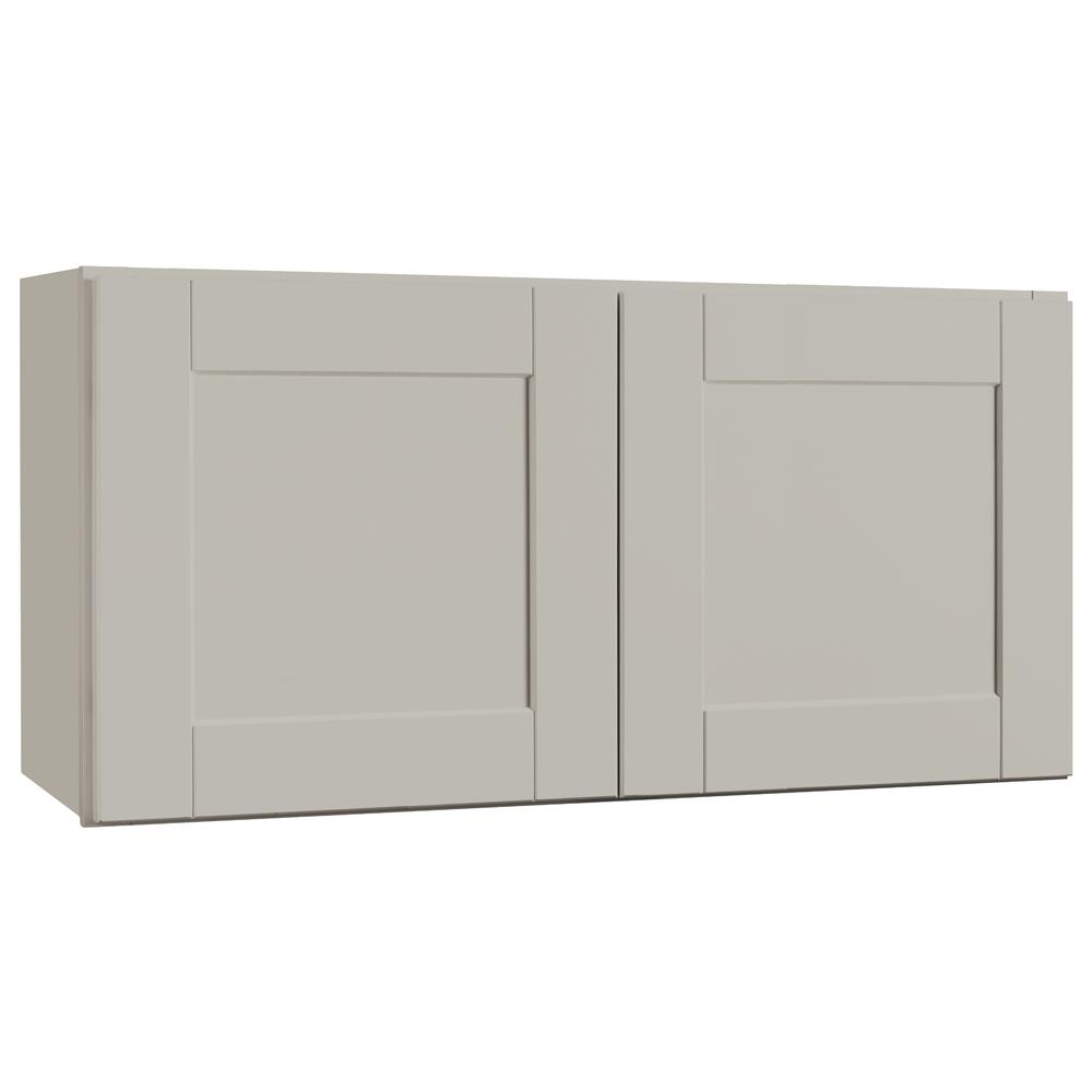 Shaker Assembled 36x18x12 in. Wall Bridge Kitchen Cabinet in Dove Gray
