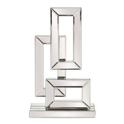 Small Abstract Geometric Mirrored Sculpture