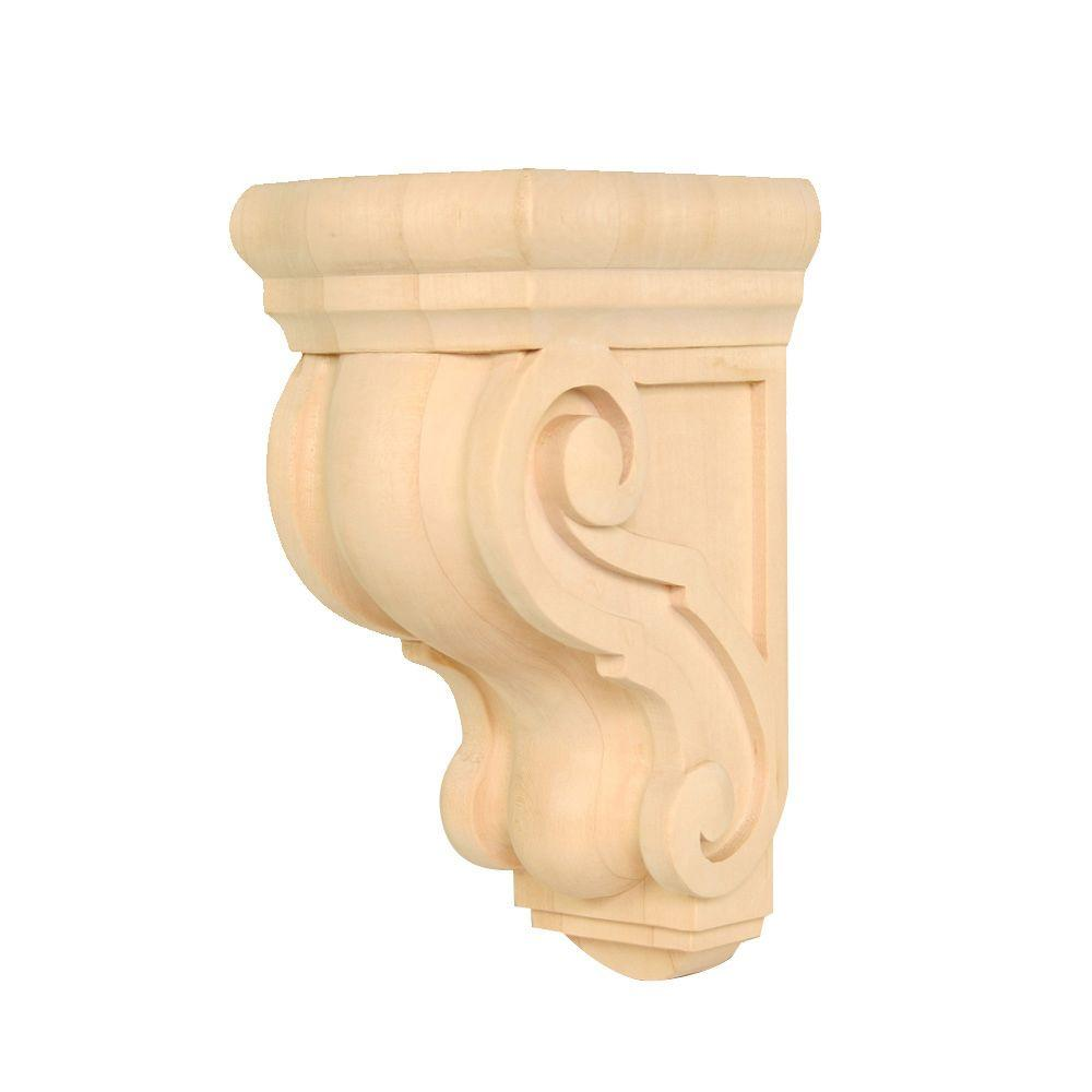 Waddell WADCR 321 5-1/2 in. x 4-1/2 in. x 9-1/2 in. Basswood Classic Corbel