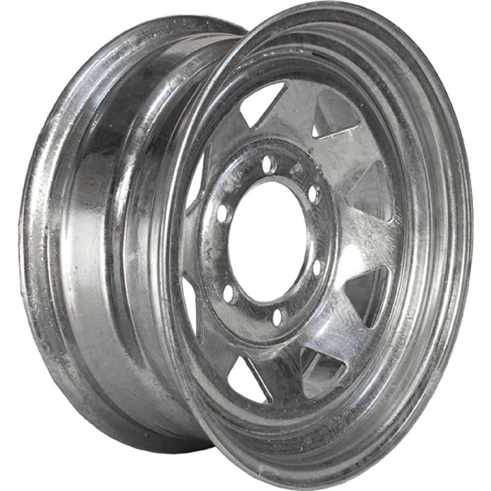 2830 lb. Load Capacity Galvanized Eight Spoke Steel Wheel Rim