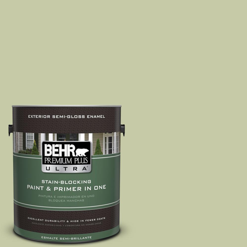 1-gal. #M350-3 Sap Green Semi-Gloss Enamel Exterior Paint