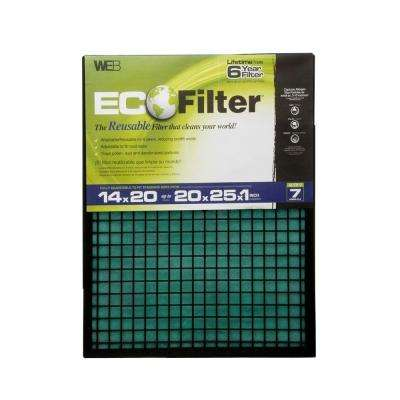 20 in. x 25 in. x 1 in. Eco Adjustable FPR 4 Air Filter