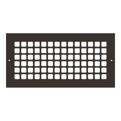 Square Series 14 in. x 6 in. Aluminum Grille, Oil Rubbed Bronze with Mounting Holes