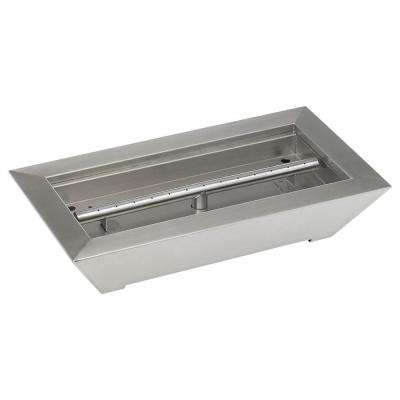 18 in. W x 10 in. D x 4 in. H Stainless Steel Paramount Fireplace Pan Burner