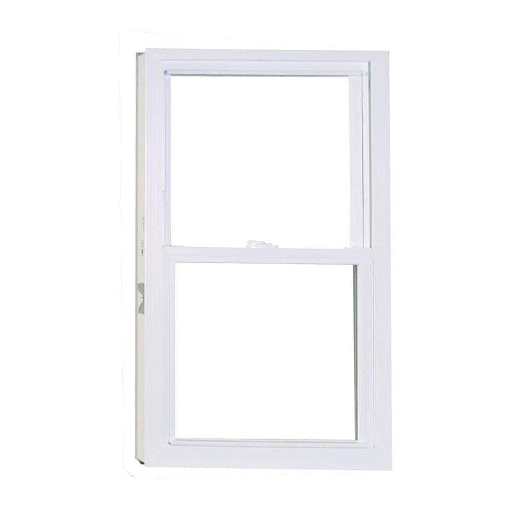American Craftsman 32 in. x 54 in. 50 Series Double Hung White Vinyl ...